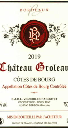 Côtes de Bourg AOC
